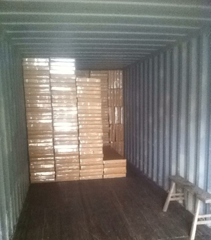 Spine board container loading
